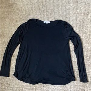 Loft Long Sleeve Black Shirt
